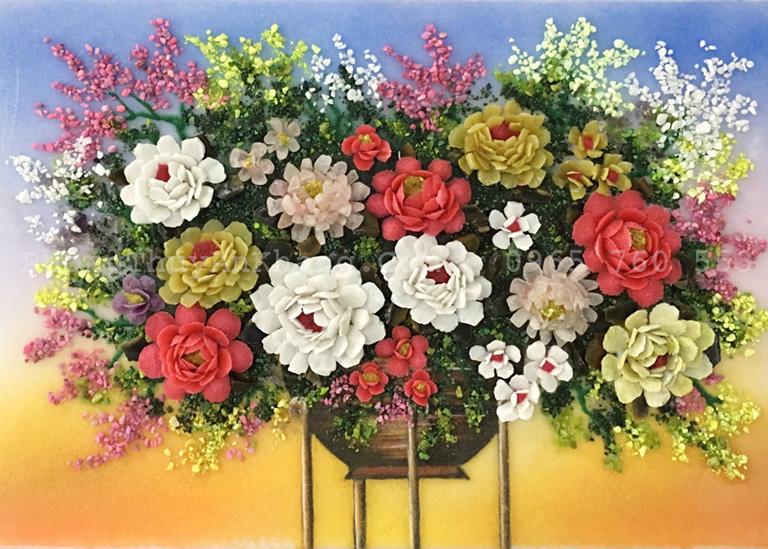 Tranh đá quý bình hoa giá tốt nhất tại tp hồ chí minh