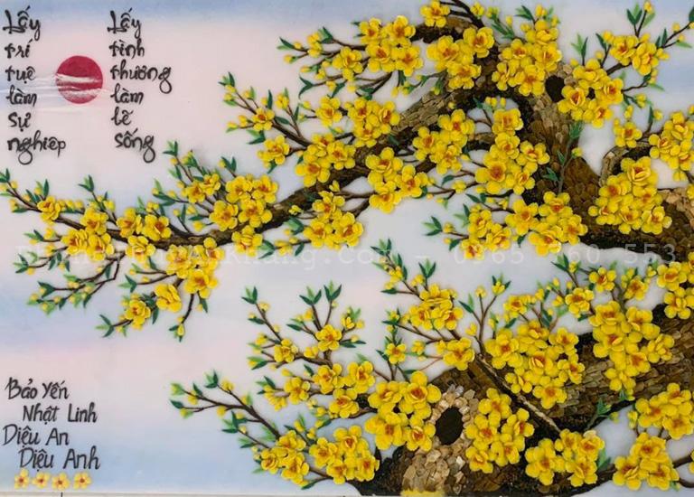 Tranh đá quý hoa mai giá tốt nhất tại tp hcm