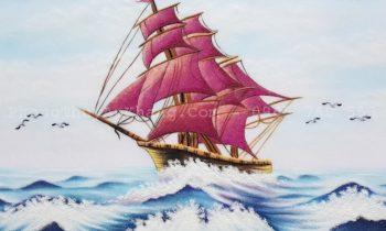 Tranh đá quý thuận buồm xuôi gió phát lộc