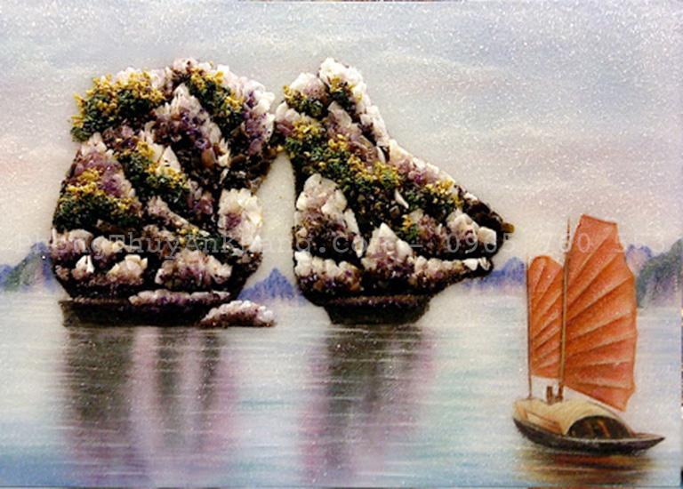Ý nghĩa tranh đá quý thuận buồm xuôi gió
