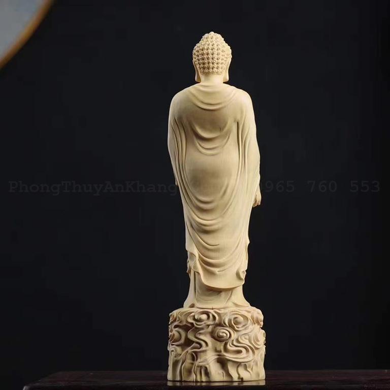 Tượng thờ A Di Đà bằng gỗ