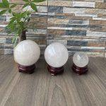 Quả cầu Thạch Anh trắng 8cm - 10cm - 12cm