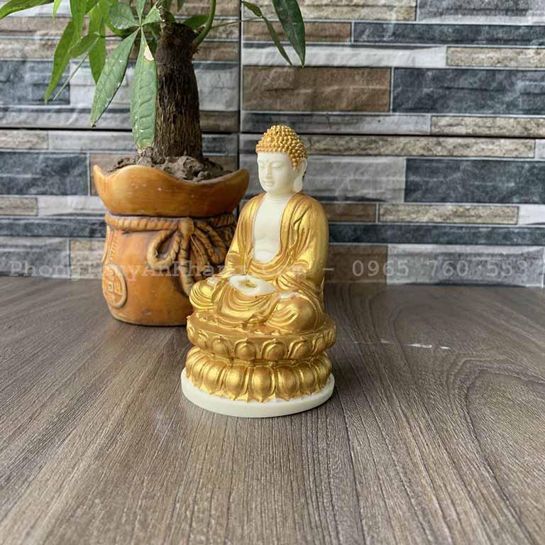 Tượng Phật Thích Ca để xe ô tô bằng bột đá ép