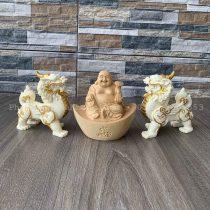 Bộ Phật Di Lặc và tỳ hưu chiêu tai lộc may mắn hạnh phúc