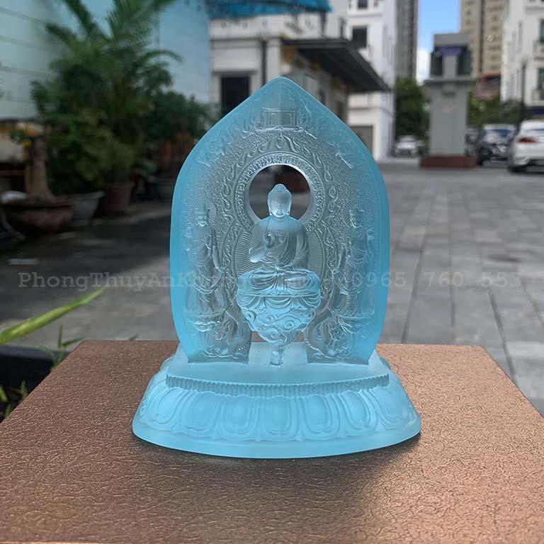 Tượng Phật để xe ô tô cao cấp bằng lưu ly