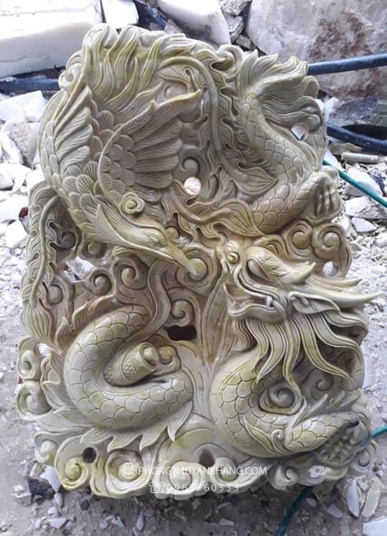 Tượng Long Phượng sum vầy bằng đá Marble