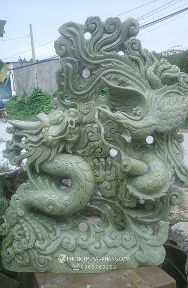 Tượng Long Phượng sum vầy bằng đá Xanh Ninh Bình