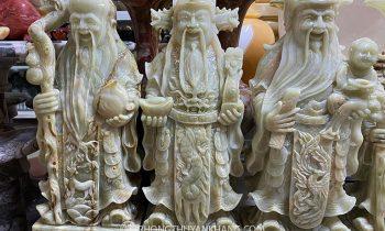 Tượng Tam Đa Phúc Lộc Thọ bằng đá Paskintan nhập khẩu cao cấp